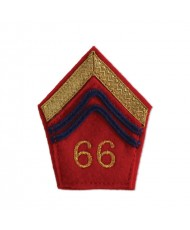 1914/1918 : 2 PATTES DE COL ROUGE GARANCE MODÈLE 1877