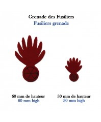 Hand-cut insignias : Fusiliers grenades