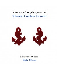 hand-cut insignias: 2 anchors to sew directly on the collar