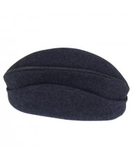 1891 model police cap in bluish iron gray wool