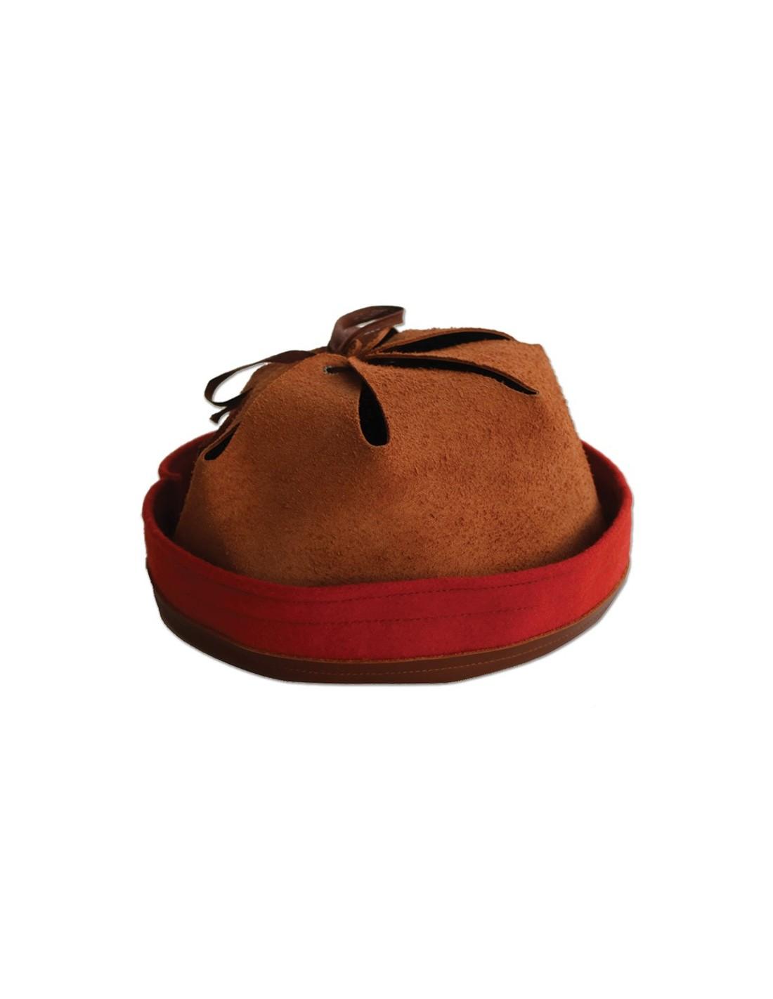 intérieur premier type en cuir marron pour casque Adrian