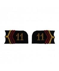 2 pattes de col aux chiffres brodés pour veste modèle 1915 - Cuirassier