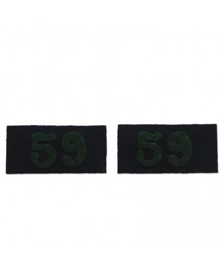 2 non-regulatory collar tabs for greatcoat