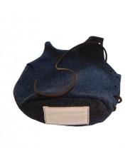 Housse de bidon modèle 1877 gris de fer bleuté et son étiquette