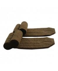 2 Khaki shoulder rolls (reconditioned green khaki wool)