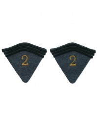 2 tabs with embroidered figures for second model greatcoat