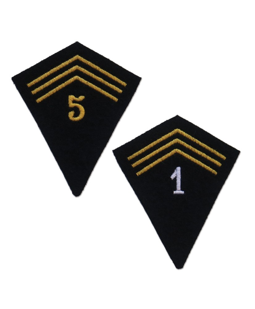 Sleeve tabs of the African troops